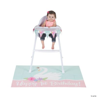 Sweet Swan 1st Birthday Party High Chair Decorating Kit Oriental Trading