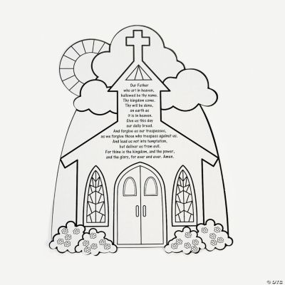 color your own lord s prayer cutouts oriental trading