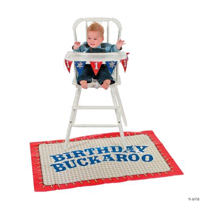 Cowboy 1st Birthday High Chair Decorating Kit Discontinued