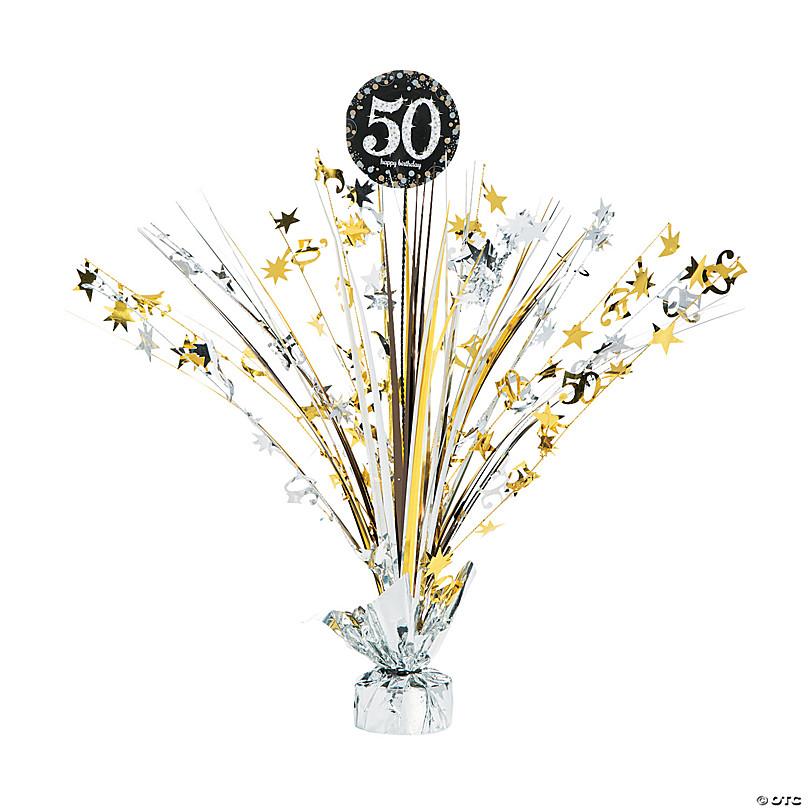 50th Birthday Sparkling Celebration Centerpiece Oriental Trading