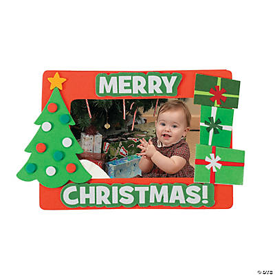 Merry Christmas Picture Frame Magnet Craft Kit