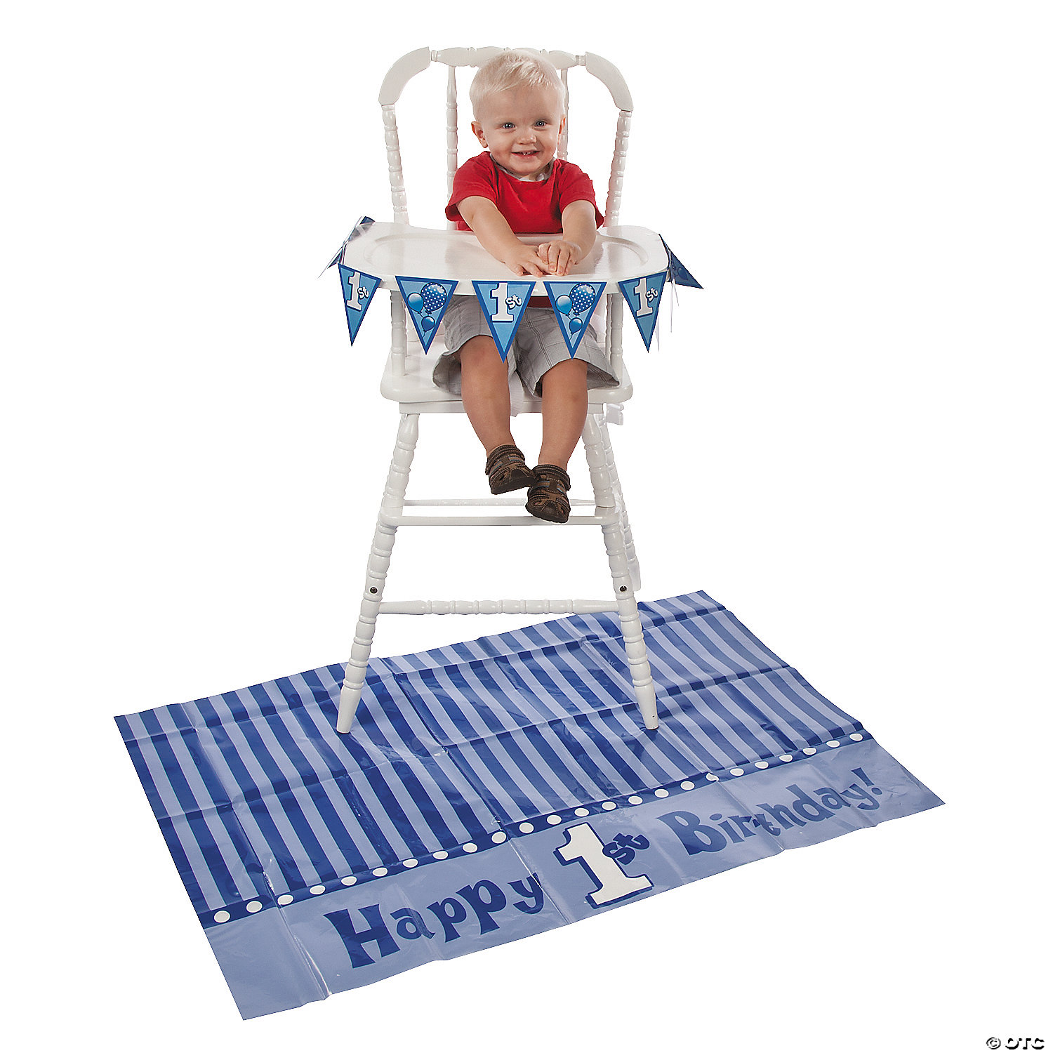 Blue 1st Birthday High Chair Decorating Kit Discontinued