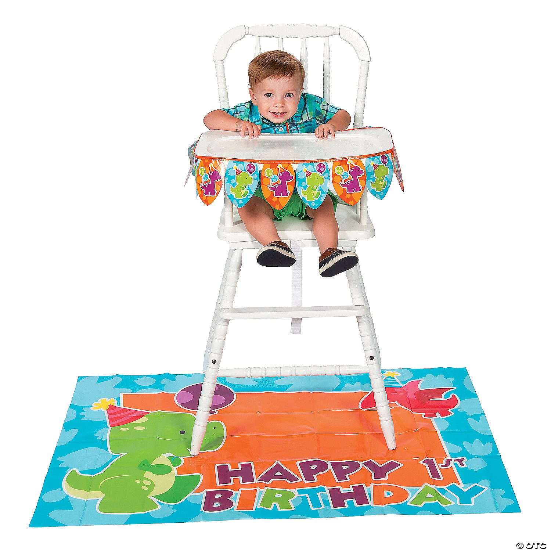 Little Dino 1st Birthday High Chair Decorating Kit Oriental Trading