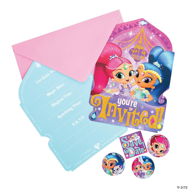 Nickelodeon Shimmer Shine Birthday Party Invitations Oriental Trading