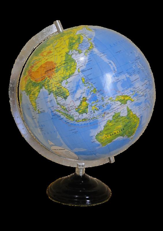 Globe 30 cm (Frame Besi dan Tatakan Plastik)