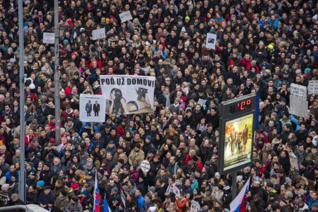 Bratislava manifestation 2018