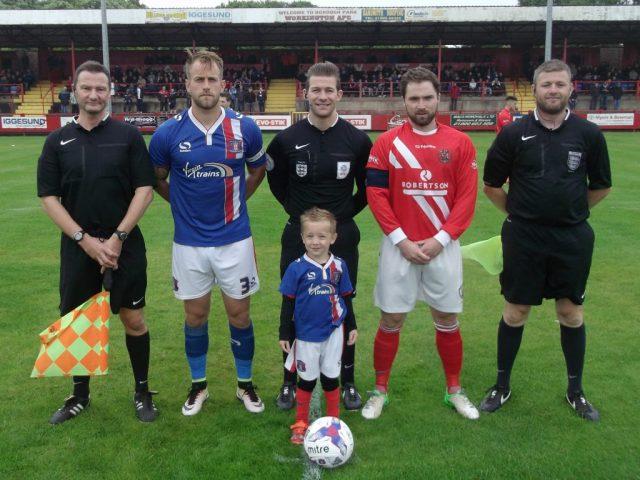 Reds v. Carlisle United (Mark Hunter, Danny Grainger, Anthony Backhouse, Jake Simpson and Gavin Lynch)