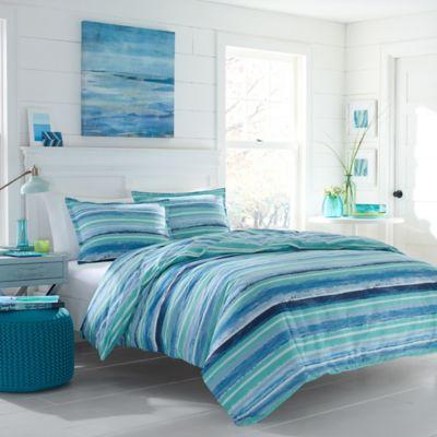 Poppy Amp Fritz 174 Alex Comforter Set In Aqua Bed Bath Amp Beyond