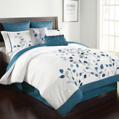 Michela Comforter Set In Petrol Bed Bath Amp Beyond
