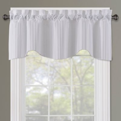 Buy Sutton Rod Pocket Lined Window Valance In White From