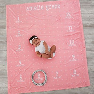 Monthly Milestone Baby Fleece Blanket Bed Bath Amp Beyond