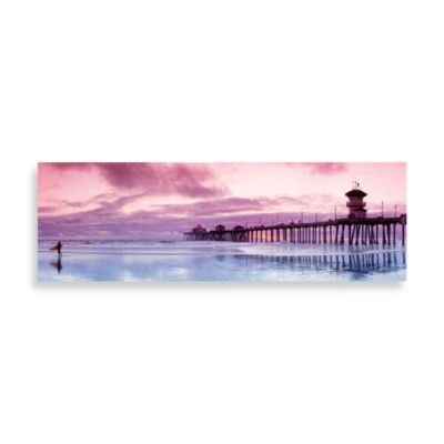 Huntington Beach Bliss Canvas Print 58 Inch X 18 Inch Wall