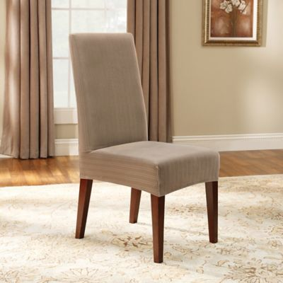Sure Fit Stretch Pinstripe Short Dining Chair Slipcover Bed Bath Amp Beyond