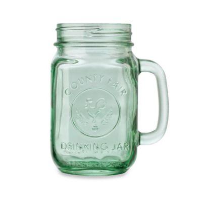 Libbey Glass County Fair 165 Ounce Mason Drinking Jar In