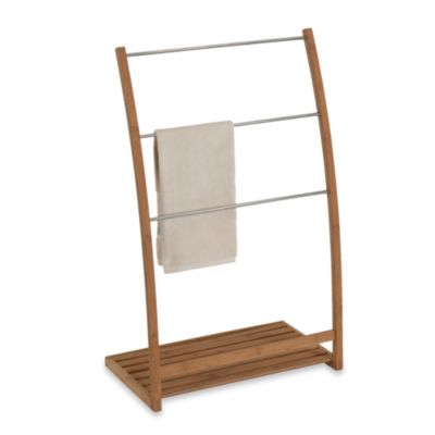 Buy EcoStyles Bamboo Free Standing Towel Stand From Bed