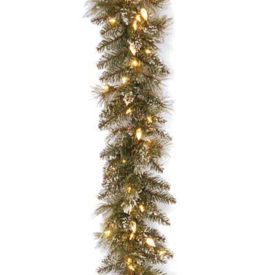 National Tree Company 5 Ft Glittery Bristle Entrance