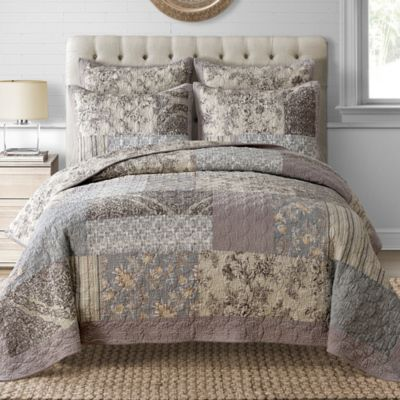 Davis Quilt In Taupe Bed Bath Amp Beyond