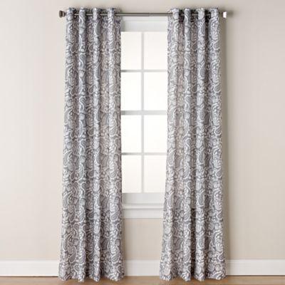 Chloe Print Grommet Window Curtain Panel Bed Bath Amp Beyond