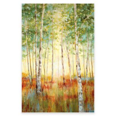Birch Tree Canvas Wall Art Bed Bath Amp Beyond