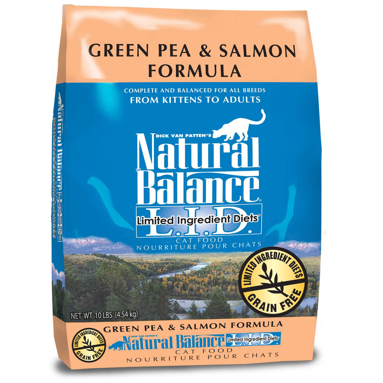 Natural Balance L.I.D. Limited Ingredient Diets Green Pea & Salmon Formula Dry Cat Food | Petco
