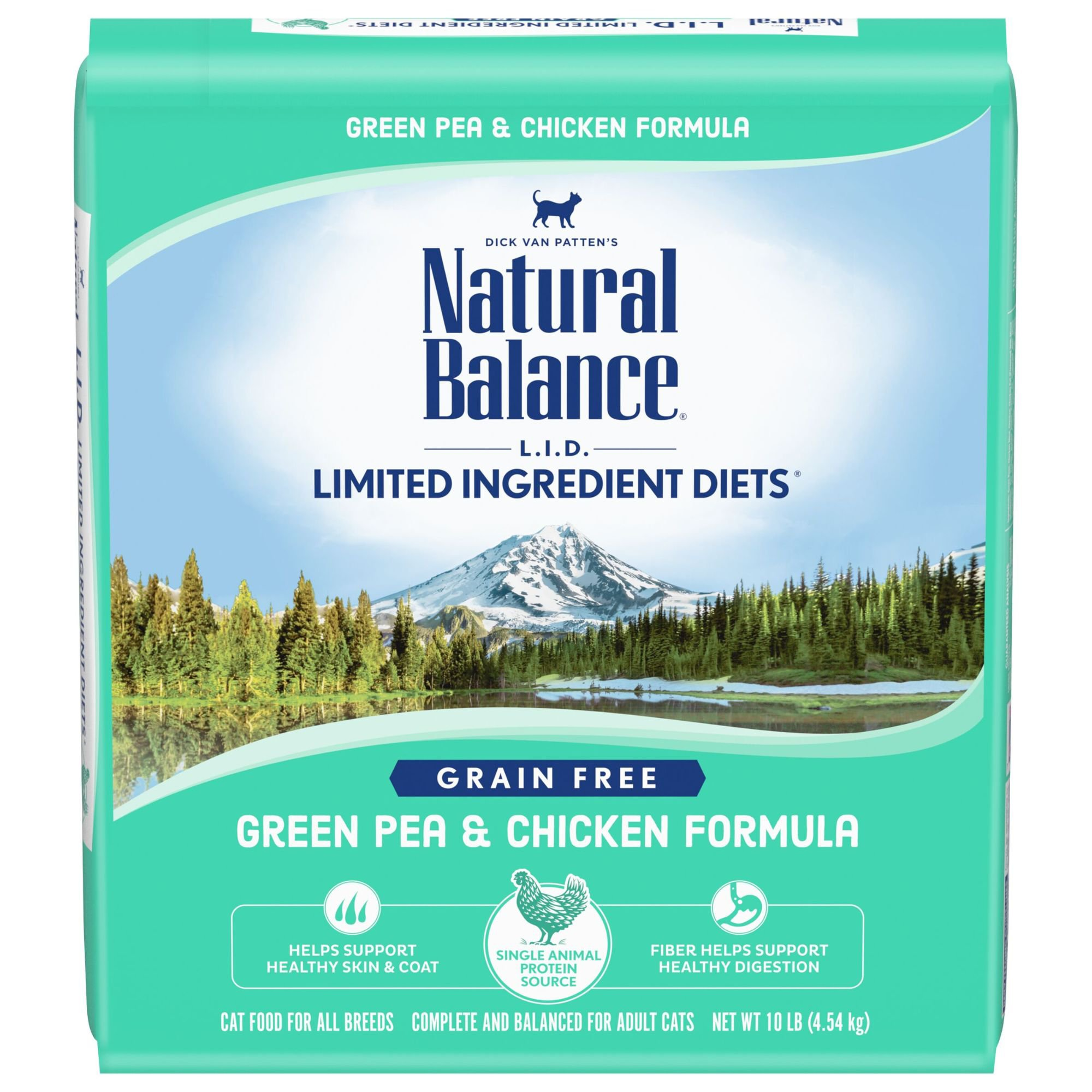 Natural Balance L.I.D. Limited Ingredient Diets Green Pea & Chicken Formula Dry Cat Food | Petco