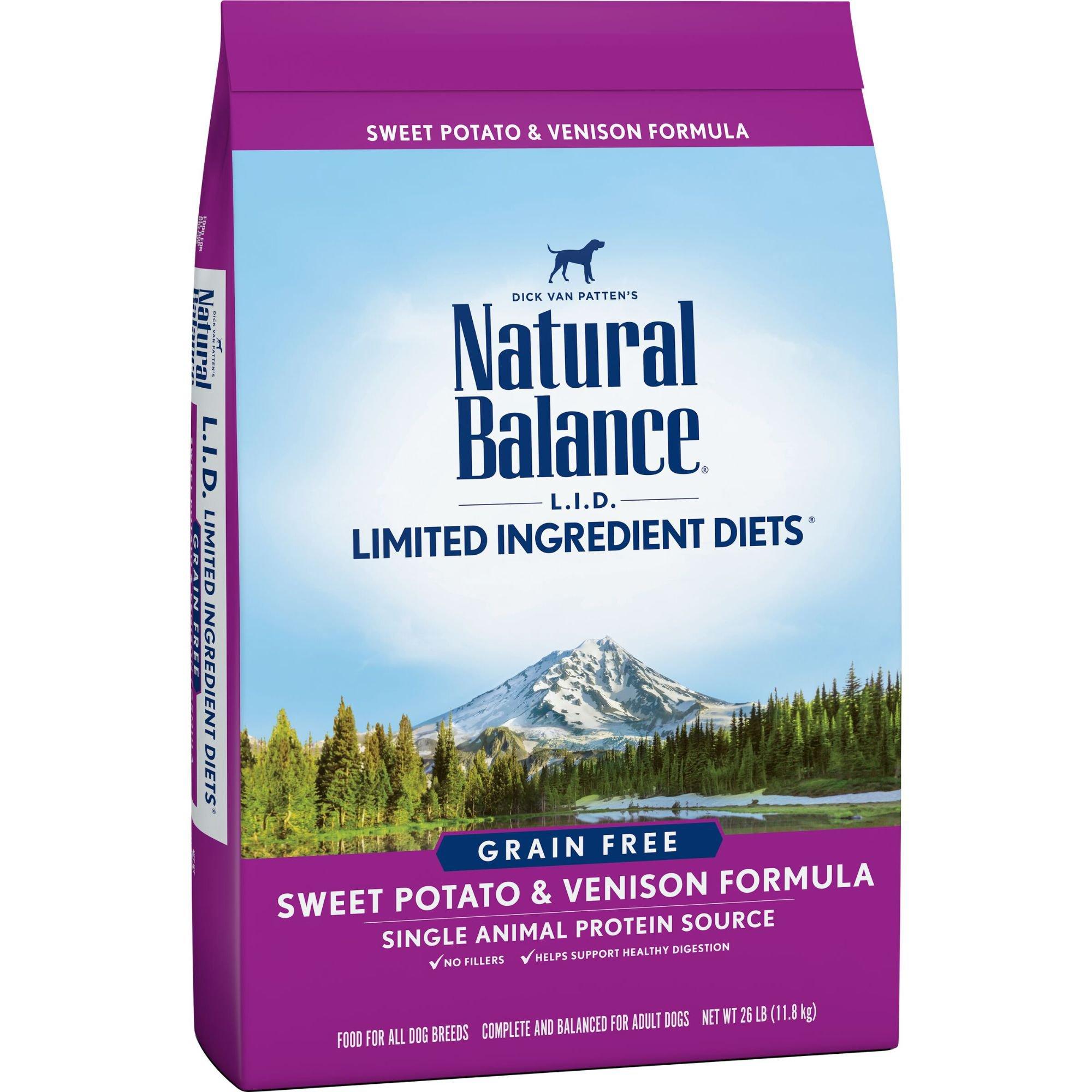 Natural Balance L.I.D. Limited Ingredient Diets Sweet Potato & Venison Grain Free Dog Food | Petco