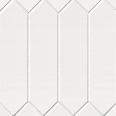 picket florencia super bianco ceramic wall tile 3 x 12 in