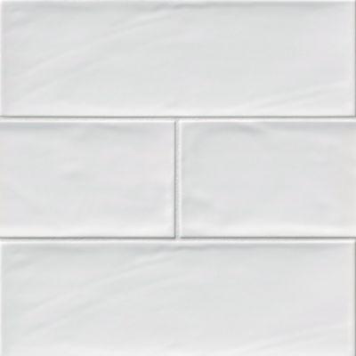 bulevar white ceramic wall tile 4 x 12 in
