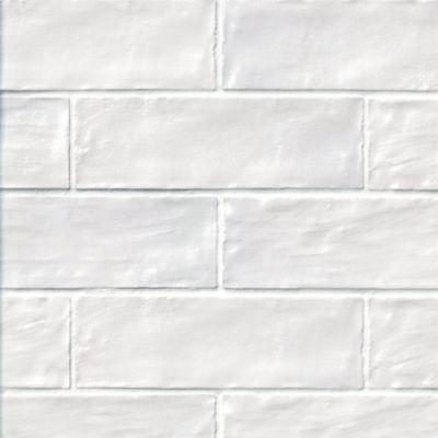mallorca white ceramic wall tile 2 x 8 in