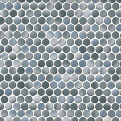 penny round cloudy porcelain mosaic tile
