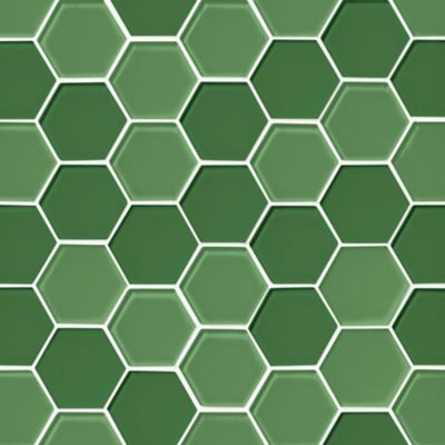 glass shamrock blend hex mosaic wall and floor tile 2 in