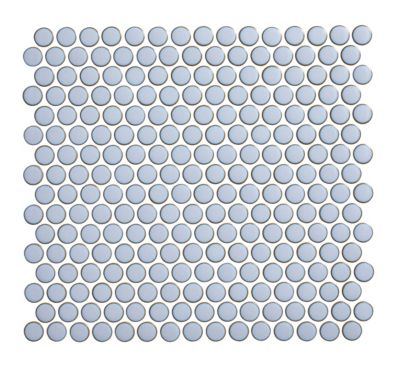 penny round sky blue porcelain mosaic wall and floor tile