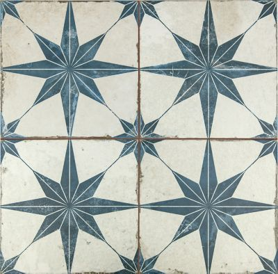 star blue ceramic wall and floor tile 18 x 18 in