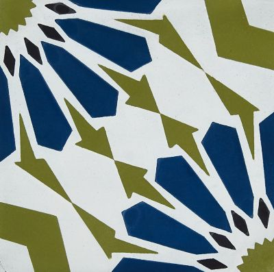 star olive blue encaustic square pattern cement wall and floor tile 8 in