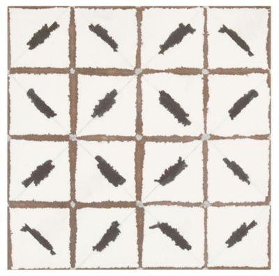 annie selke ikat black porcelain wall and floor tile 20 x 20 in