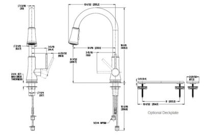 Polished Chrome Pfirst Series G529PF1C 1Handle PullDown
