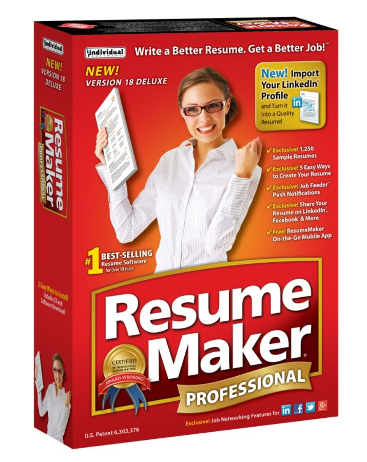 individual software resumemaker professional deluxe 18 traditional