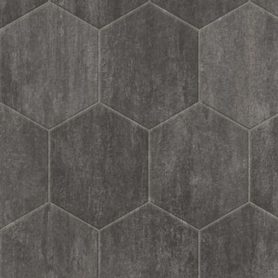 stone hex vinyl sheet slate gray b3392