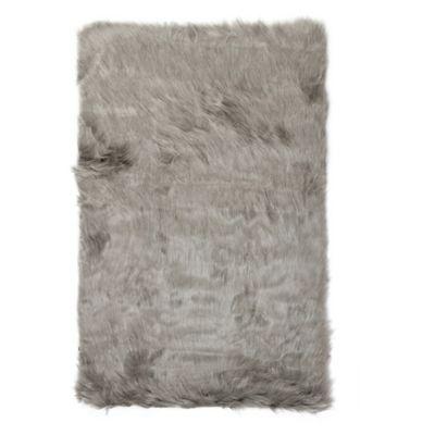 Luxe Hudson Faux Fur Sheepskin Shag RugThrow Bed Bath