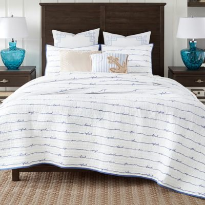 Buy Coastal Living Sand Script FullQueen Quilt Set In