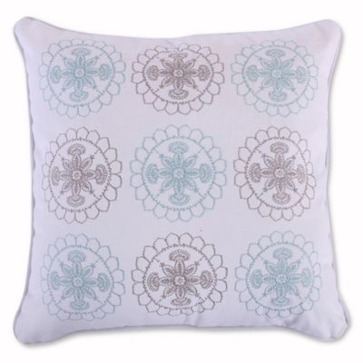 Levtex Home Amelie Embroidered Throw Pillow In BlueGrey