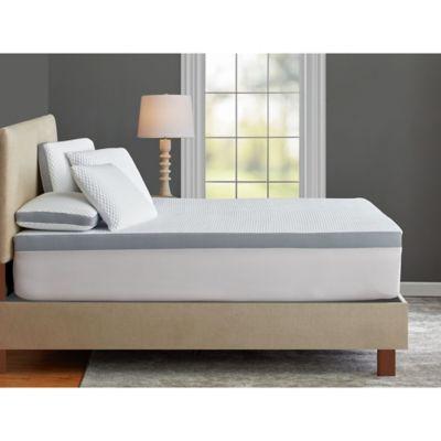 therapedic tru cool 3 inch serene foam performance mattress topper