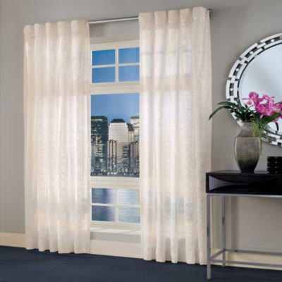 Designers Select Maximus Sheer Inverted Pleat Window Curtain Panel Bed Bath Amp Beyond