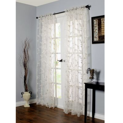 Commonwealth Home Fashions Venice Embroidered Window Curtain Panel In White Bed Bath Amp Beyond