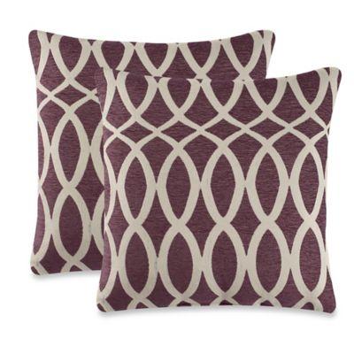 harmonia throw pillow in purple set of