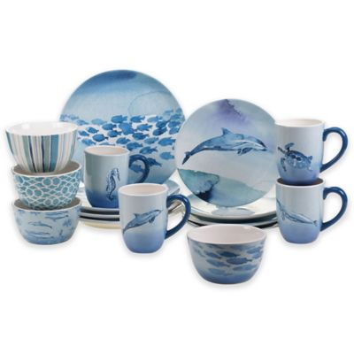 Buy Certified International Sea Life 16 Piece Dinnerware