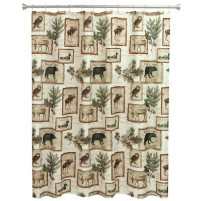 Bacova Lodge Memories Shower Curtain Bed Bath Amp Beyond
