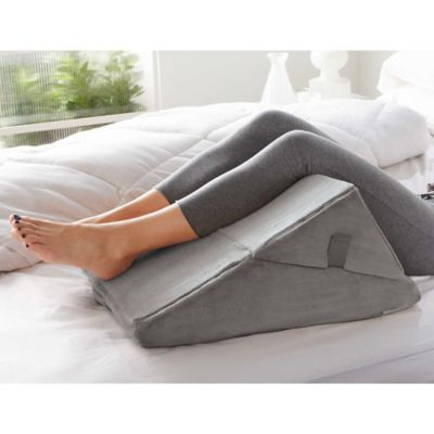 brookstone 4 in 1 bed wedge pillow in grey