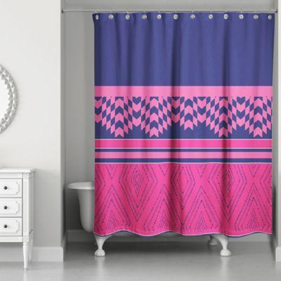 color block geo boho tribal shower