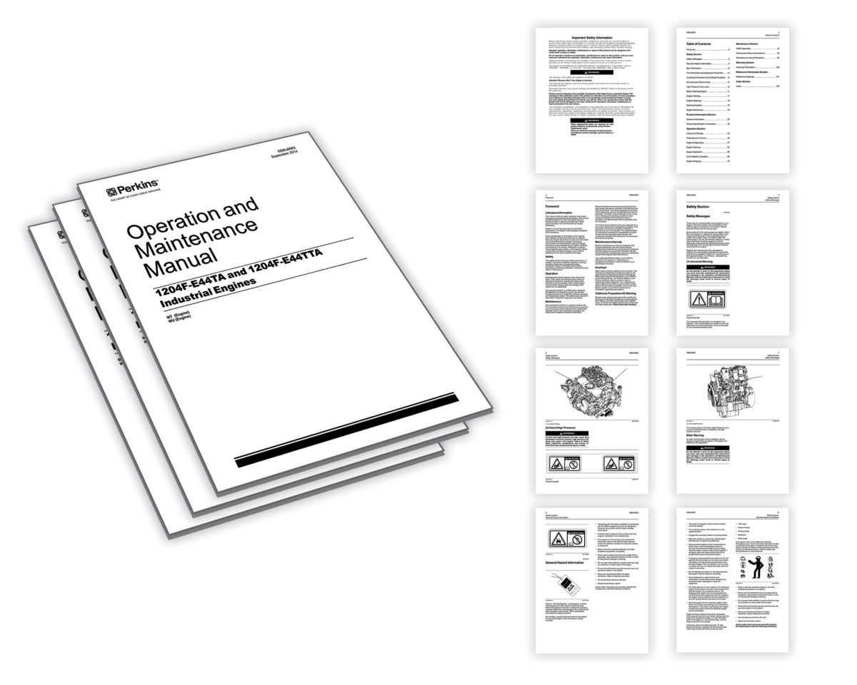 Operation and maintenance manuals | Perkins Engines